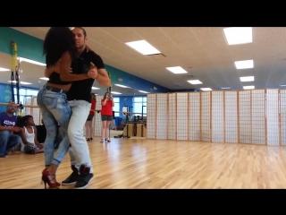 Кизомба - красивый сексуальный танец.  Семинар в Тампа, Флорида