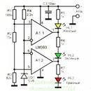 как избавится от шипиги.  Индикатор разряда батареи аккумулятора на светодиоде схема.