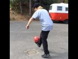 "Tanner Hall on Instagram: ""Workin on the footy skills. #skibossonthatdummytip"""