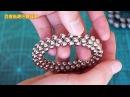 TUTORIAL 4-ring flexible tube hoop ( Zen Magnets, Neoballs, Buckyballs, Nanodots, Neocube)