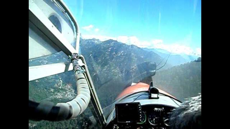 Atterraggio in quota Pilota-Istruttore Gianni Daverio con ulm Groppo Trial