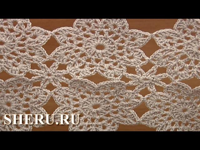 How To Join Crochet Flower Motif Урок 12 часть 2 из 2 Вязаный мотив