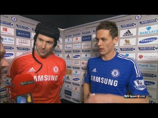 Chelsea vs Everton 1 : 0 - Nemanja Matic & Petr Cech post-match interview
