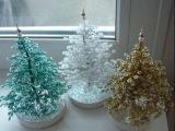 Как сплести Новогоднюю елку из бисера Мастер класс