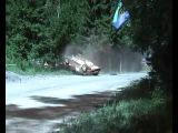 Авария на ралли Lada Kalina. Лада Калина перевернулась семь раз и снова в гонку.