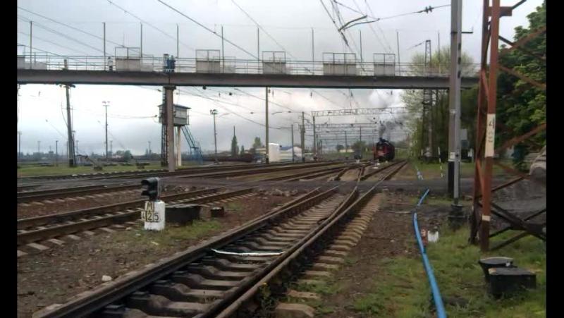поезд победы г. Ясиноватая (горка) 9 мая 2015 г