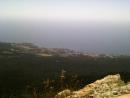 вид сверху с горы Ай Петри .