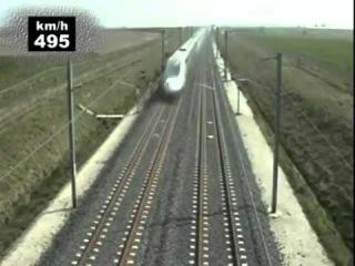 Поезд TGV POS 574,8 кмч самый быстрый поезд в мире 3 04 2007 Просмотр видео вызывает неоп ...