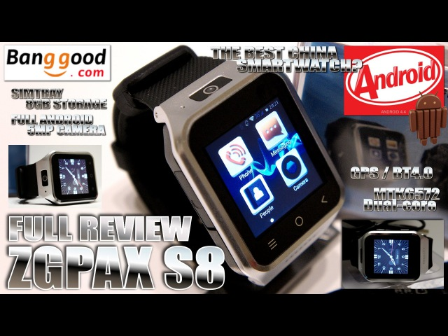 ZGPAX S8 [MEGA REVIEW] The BEST Android Smart Watch? 1.54