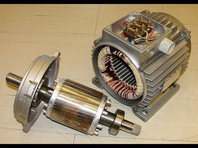 Процесс сборки асинхронного двигателя.