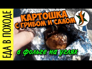 Картошка с грибом в фольге на углях.  #104 Любители приключений и путешествий