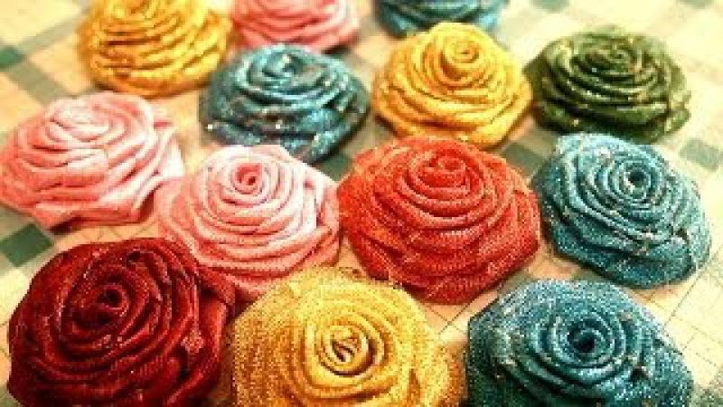D.I.Y. Flower..RIBBON ROSE