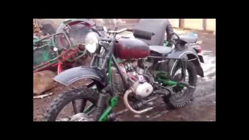 Полноприводный мотоцикл УРАЛ на три колеса полный привод