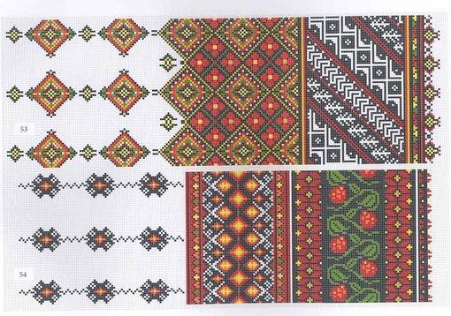 Схемы вышивки крестом рушники