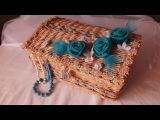 Плетение из газет сундук мастер класс корзина How to Make a Basket from Newspaper