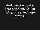 Nickelback - Hero (Lyrics) - YouTube