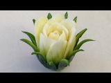 The Zucchini Cactus Rose Flower - Advanced Lesson 16 By Mutita Art Of Fruit And Vegetable Carving