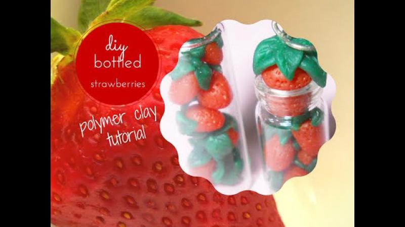 Bottled Strawberries ❦ Fragole in bottiglia ❧ Bottle Charm Polymer Clay ~ Tutorial