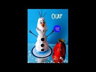 Снеговик Олаф! How to make the snowman Olaf of paper?