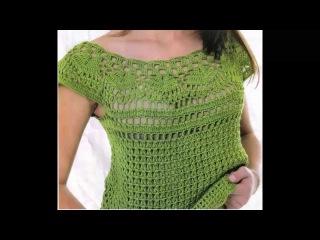 Blusa Verde Calado Perfecto a Crochet