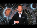 Neil Patrick Harris at Benedict Cumberbatch's name at the 87th Oscar ceremony
