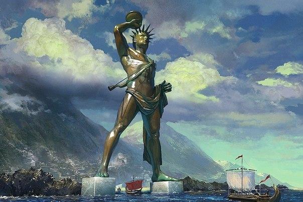 Интересное о Колоссе Родосском - одном из семи чудес света.