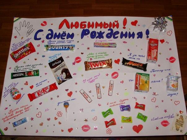 Плакаты с днём рождения своими руками любимому