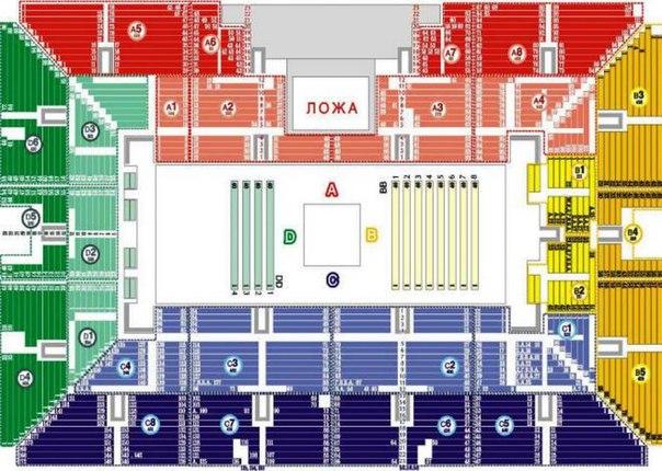 Схема арены МСА: