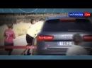 Cristiano Ronaldo empuja un niño saliendo del entrenamiento del Real Madrid 2014