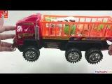 Video Đồ Chơi Trẻ Em - Đồ chơi xe tải chở động vật rất đẹp và ngỗ nghĩnh, Super Racing Car NO.DH3827