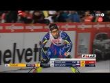 Финиш Мартена Фуркад в гонке на 10 км свободным стилем на этапа Кубка мира по лыжным гонкам - Куусамо 2015