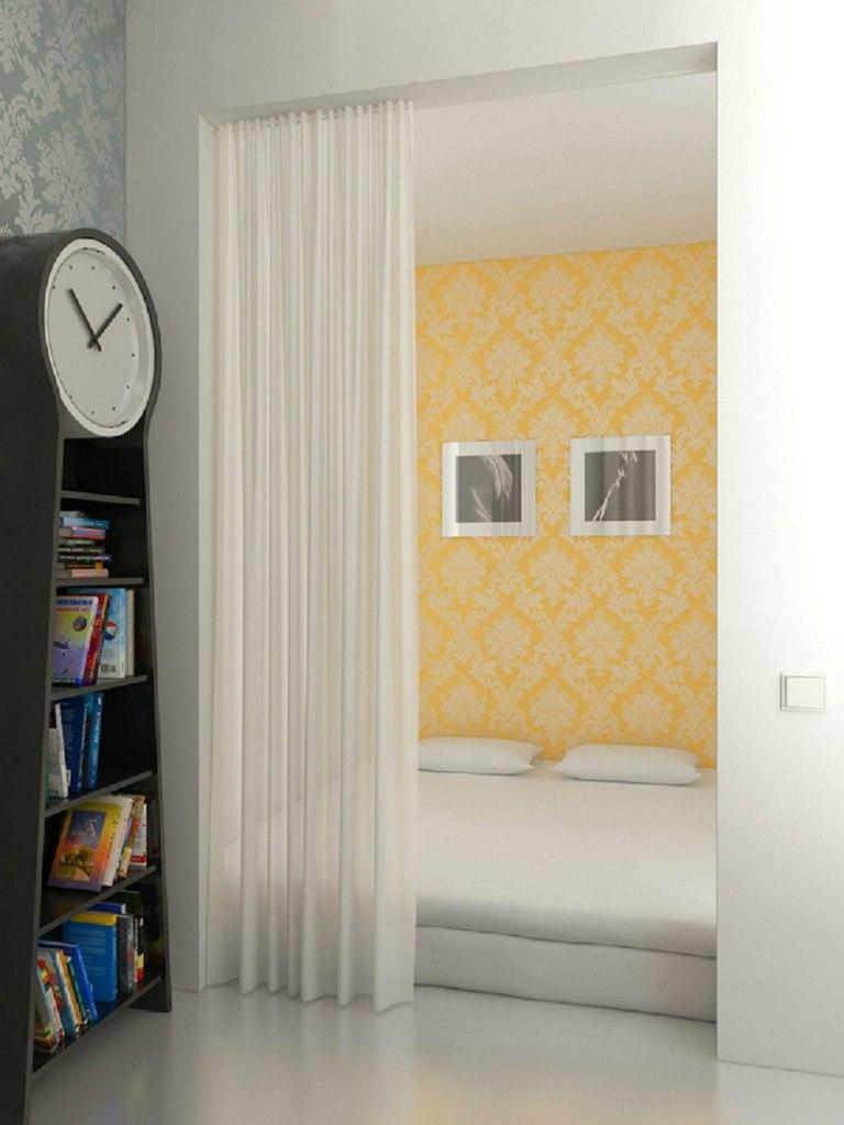 Жизнерадостный проект небольшой квартиры 33 м с яркими деталями.