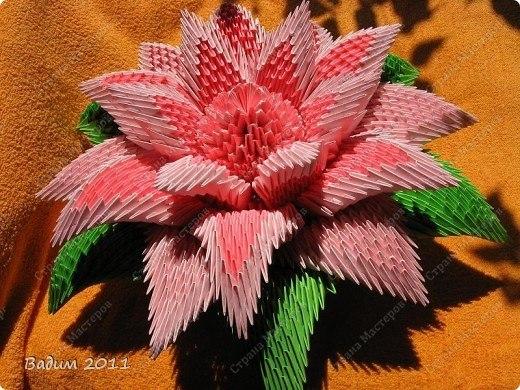 сборка цветов модульное оригами