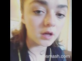 """@maisie_williams on Instagram: """"GUYS I GOT TOO EXCITED ON DUBSMASH AND I THREW MY PHONE ACROSSTHEFLOOR I CANT STOP LAUGHING OMG HELP"""""""