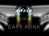 Adele vs Daft Punk - Set Fire to the RainSomething About Us (LB mashup) (HD)