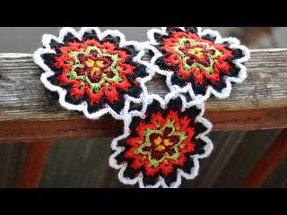 Как вязать крючком круглый мотив в технике барджело • Crochet Bargelo