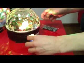 Свето-музыка  - Диско шар c MP3 плеером LED Ball Light