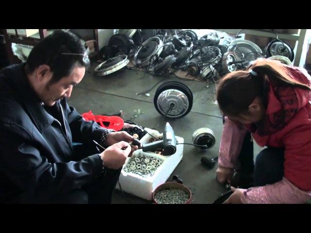 Как собрать мотор-колесо?Китайсий завод по производству Мотор-колёс Ebikemoto 1