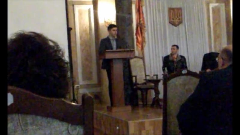 Виступ голови Студпарламенту ЧНУ на конференції трудового колективу університету