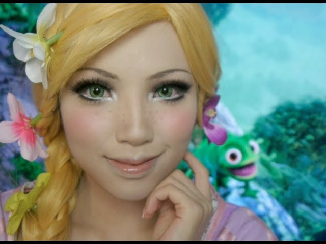 Disney's Tangled Rapunzel Make up Tutorial Ft Flynn and Pascal