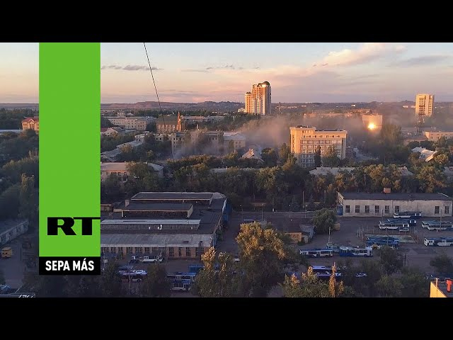 Militares ucranianos abren fuego en el centro de Donetsk