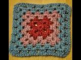 вязание крючком плед - квадрат 3 / crochet a throw blanket square 3