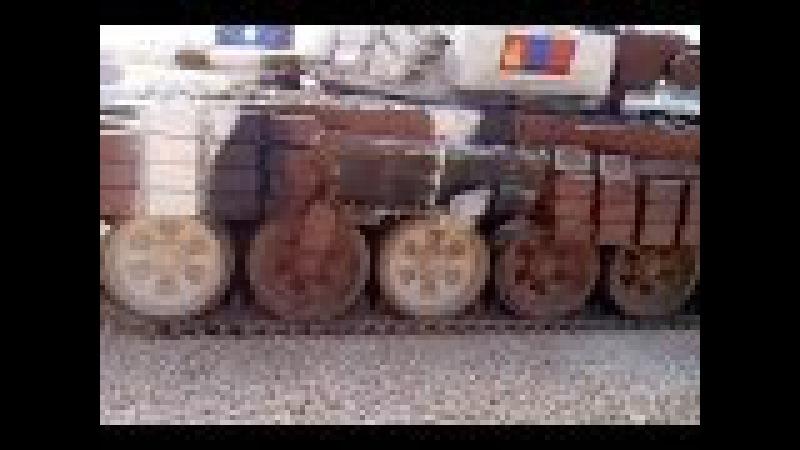 Танковый биатлон, столкновение Монголии с бетонной стеной. 2014