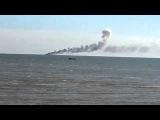 Бойцы ВСН подбили украинский патрульный катер в Азовском море.