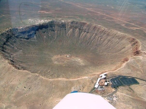 кратер от упавшего астероида