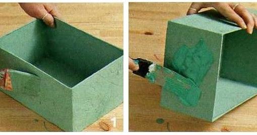 Глубокая полка из картонной