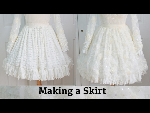 Making a Skirt The Fluffy Feathered Dress Part One