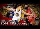 Stephen Curry vs James Harden EPIC Duel in 2015 WCF G2 71 Pts 15 Dimes Combined
