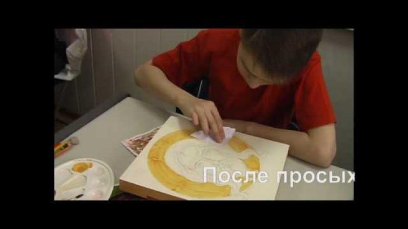 Золочение иконы - мастер-класс. Еxpresspaint.ru