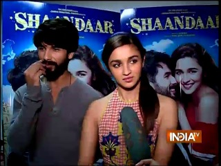 Shaandaar: Shahid Kapoor and Alia Bhatt Exclusive Interview - India TV